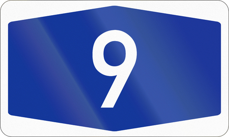 Numbered highway shield of a German Autobahn.