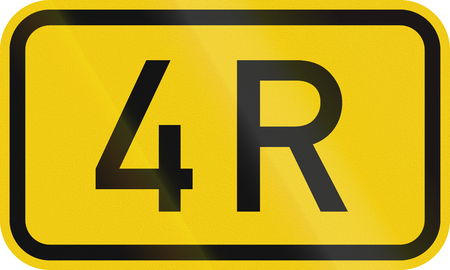 numbered: Numbered highway shield of a German Bundesstrasse (Federal road).