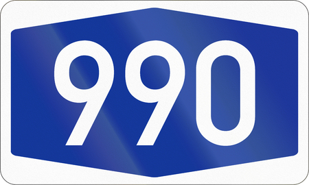 multiple lane highway: Numbered highway shield of a German Autobahn.