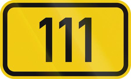 federal: Numbered highway shield of a German Bundesstrasse (Federal road).