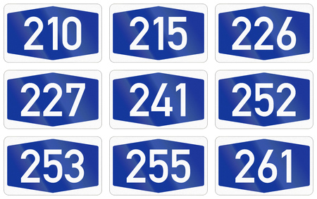 autobahn: Collection of Numbered highway shields of German Autobahn system.