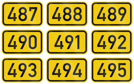 federal: Collection of Numbered highway shields of German Bundesstrassen (Federal roads).