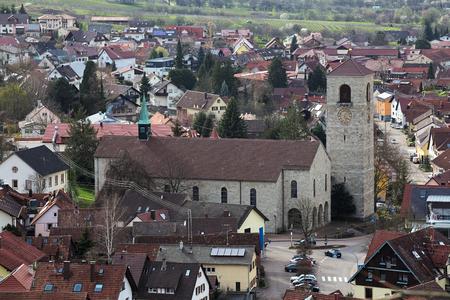 michael: St. Michael church in Neuweier, Baden-Wurttemberg, Germany.