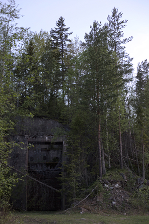 bunker: Entrance to a ruined Swedish railway bunker