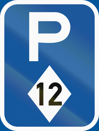 Road sign used in the African country of Botswana - Parking for high-occupancy vehicles.