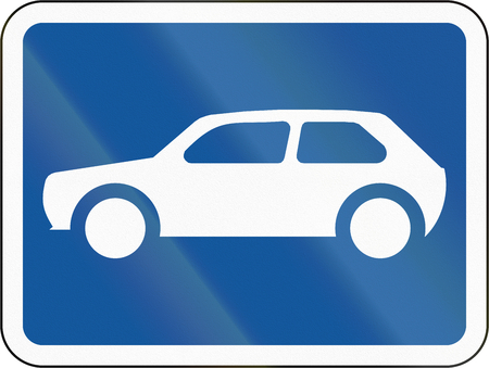 motorcars: Road sign used in the African country of Botswana - The primary sign applies to motorcars.