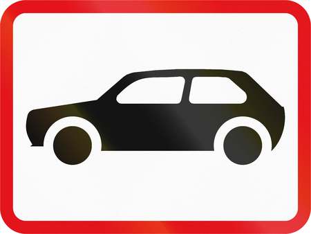Road sign used in the African country of Botswana - The primary sign applies to motorcars.