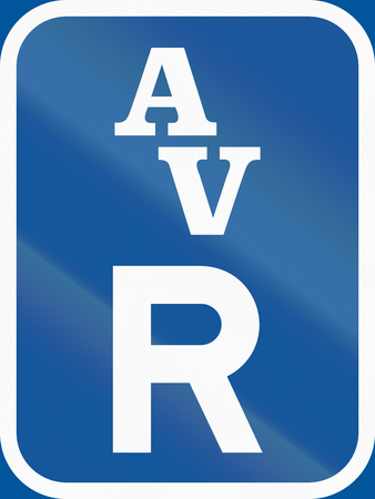r regulation: Road sign used in the African country of Botswana - Reservation for abnormal vehicles.