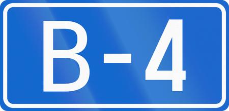 bosnia and  herzegovina: Numbered highway shield in Bosnia and Herzegovina.