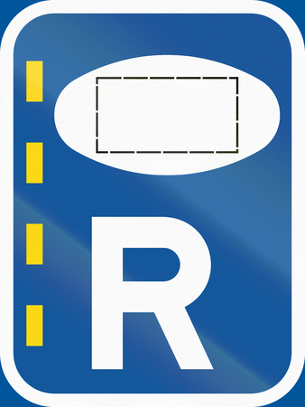 r regulation: Road sign used in the African country of Botswana - Reserved lane for authorised vehicles.