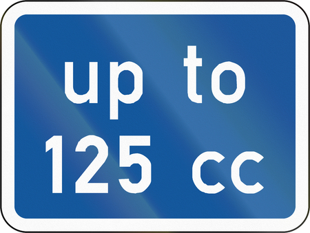 centimetre: Road sign used in the African country of Botswana - The primary sign applies to motorcycles with an engine size up to 125 cc.