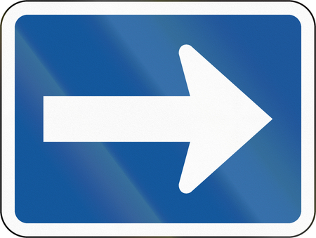botswana: Road sign used in the African country of Botswana - The primary sign applies to the right.