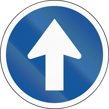 proceed: Road sign used in the African country of Botswana - Proceed straight.