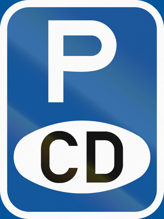 diplomatic: Road sign used in the African country of Botswana - Parking for diplomatic vehicles.