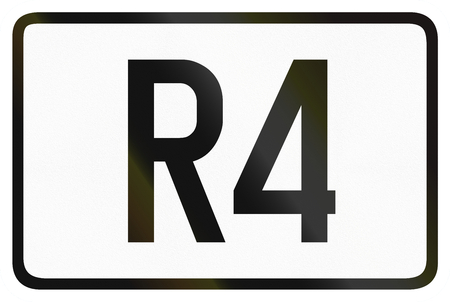 ring road: Numbered ring highway shield which is used in Belgium. Stock Photo