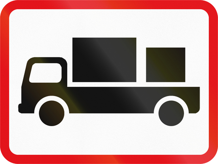 Road sign used in the African country of Botswana - The primary sign applies to delivery vehicles. Reklamní fotografie