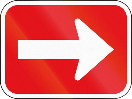 roadway: Road sign used in the African country of Botswana - One-way roadway.
