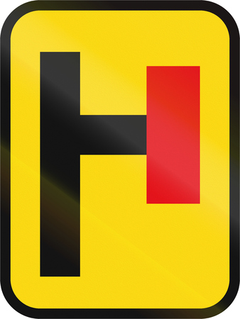 roadworks: Road sign used in the African country of Botswana - Cul-de-sac.