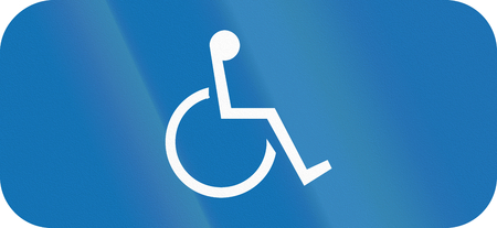 Belgian additional road sign - parking for disabled.