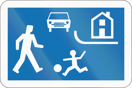 recreation area: Belgian regulatory road sign - Recreation area.