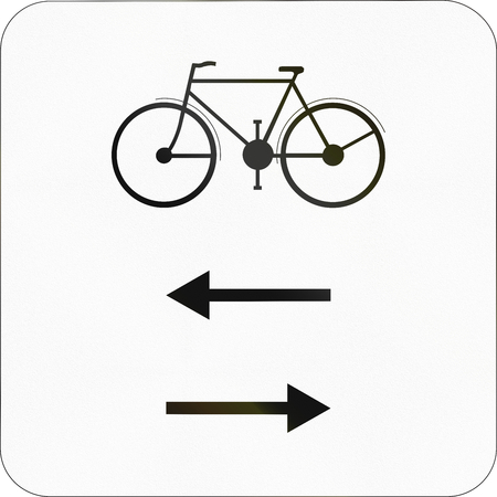 both: Additional road sign used in Belgium - Bicycles in both directions.