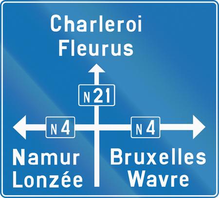 panneau routier Direction utilisée dans le pays de la Belgique. Banque d'images