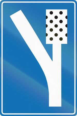 Belgian road sign - runaway truck lane.