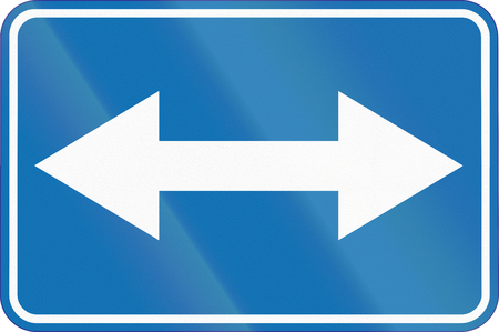 benelux: Belgian additional road sign - both directions.