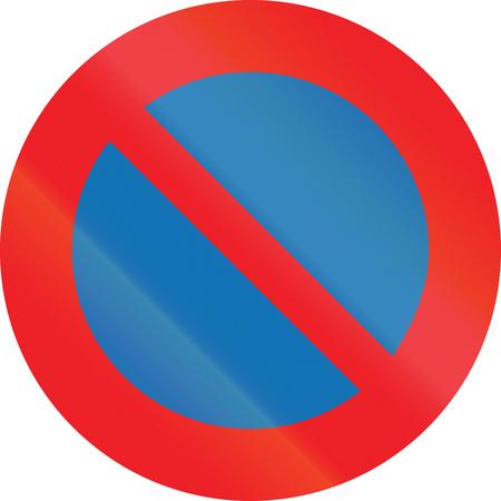 Belgian regulatory road sign - No parking. Stock Photo