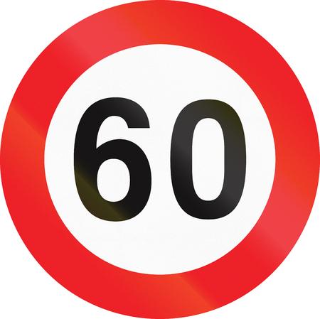 speed limit: Belgian regulatory road sign - Maximum speed limit.