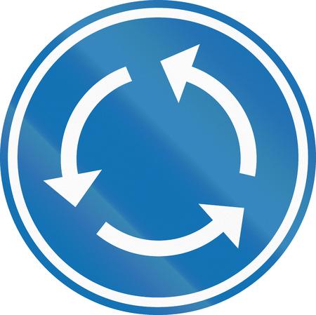 roundabout: Belgian regulatory road sign - Roundabout.
