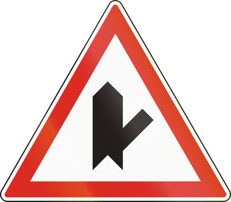 intersection: Belgian regulatory road sign - Intersection with priority.