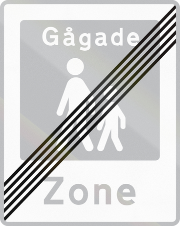 quadratic: Road sign used in Denmark - Pedestrian zone.