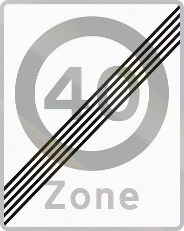 speed limit: Road sign used in Denmark - End of maximum speed limit zone.
