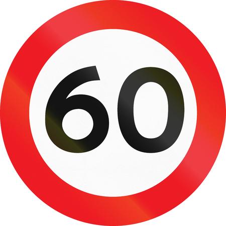 Road sign used in Denmark - Maximum speed limit.