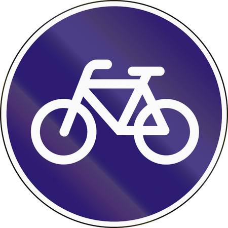cicla: Road sign used in Hungary - Track for cycles and mopeds.
