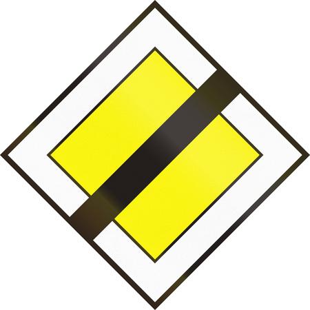 quadratic: Hungarian regulatory road sign - End of priority road.