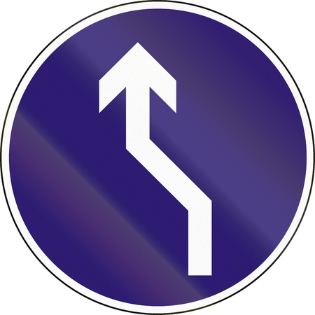 reverse: Road sign used in Hungary - Reverse turn to the left.