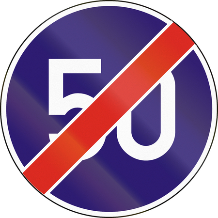 end of the road: Road sign used in Hungary - End of minimum speed.