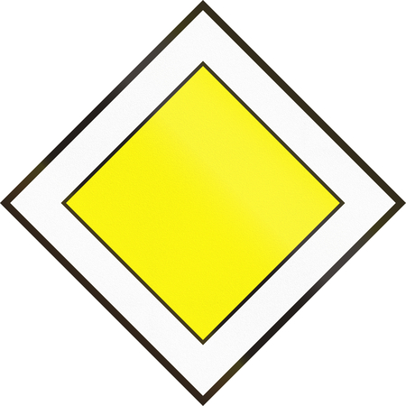 quadratic: Hungarian regulatory road sign - Priority road.