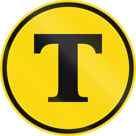 temporary: Temporary road sign used in the African country of Botswana - Toll route.