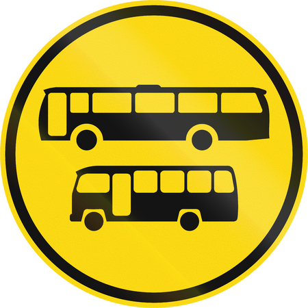temporary: Temporary road sign used in the African country of Botswana - Buses and midi-buses only.