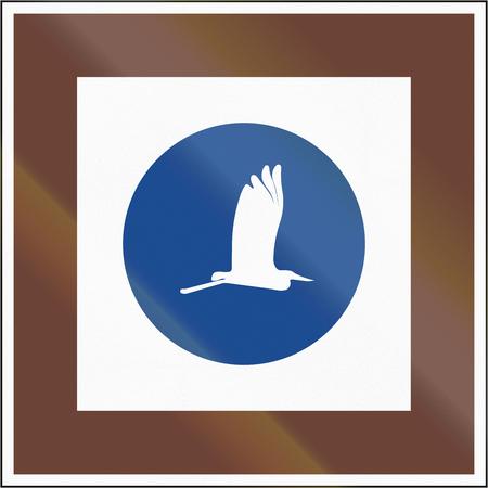 ornithological: Road sign used in Hungary - Ornithological park.
