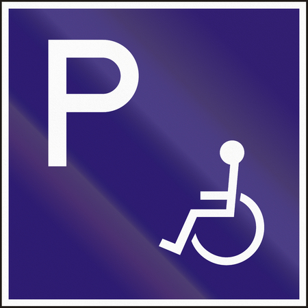 additional: Hungarian additional road sign - parking for disabled.