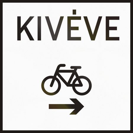 hungarian: Hungarian supplementary road sign - Kiveve means except.