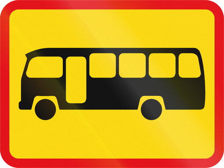 Temporary road sign used in the African country of Botswana - The primary sign applies to midi-buses.
