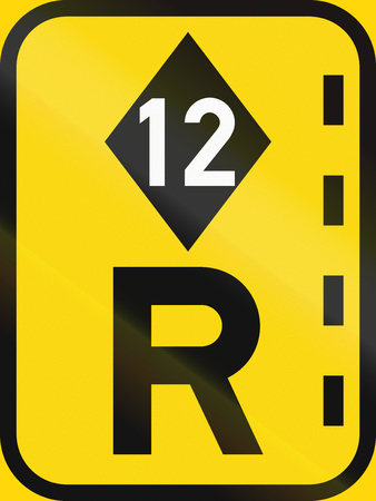 r regulation: Temporary road sign used in the African country of Botswana - Reserved lane for high-occupancy vehicles.