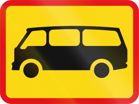 temporary: Temporary road sign used in the African country of Botswana - The primary sign applies to mini-buses.