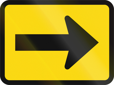 temporary: Temporary road sign used in the African country of Botswana - The primary sign applies to the right.