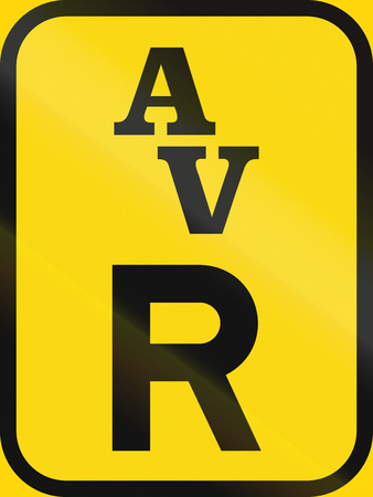 reservation: Temporary road sign used in the African country of Botswana - Reservation for abnormal vehicles.